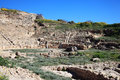 Roman amphitheatre paphos cyprus rd century bc hellenic recently discovered at fabrica hill Royalty Free Stock Photo