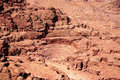 Roman amphitheatre at Petra Stock Images