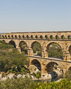 The Roman Aquaduct - Pont du Gard Royalty Free Stock Photo