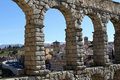 Roman aquaduct segovia Royalty Free Stock Images