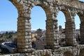 Roman aquaduct segovia Royalty Free Stock Images