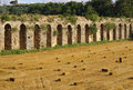 Roman aqueduct near manavgat turkey in side Royalty Free Stock Image