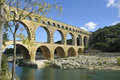 Roman aqueduct Pont du Gard, France Royalty Free Stock Photography