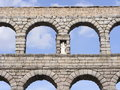 Roman Aqueduct of Segovia Stock Photo