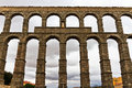 Roman aqueduct in Segovia Royalty Free Stock Photography