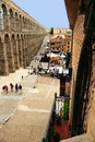 Roman aqueduct Segovia, Spain Royalty Free Stock Photography