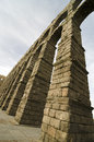 Roman aqueduct segovia spain Royalty Free Stock Photos
