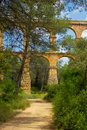 Roman aqueduct in Tarragona, Spain Royalty Free Stock Photography
