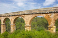 Roman aqueduct in Tarragona, Spain Stock Photos