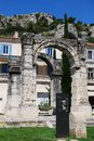 Roman arch antique stone in cavaillon provence france Stock Photo