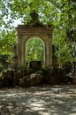 Roman arches of the Villa Borghese Park in Rome. Italy