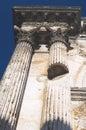 Roman Architecture Closeup Royalty Free Stock Photo
