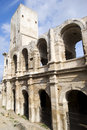 Roman arena of arles the amphitheater arcades Stock Photo