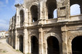 Roman arena of arles the amphitheater arcades Royalty Free Stock Photo