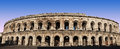 Roman arena famous in france Royalty Free Stock Image