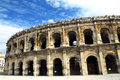Roman arena in Nimes France Stock Photo
