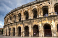 Roman arena at nimes provence france Royalty Free Stock Image