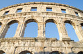 Roman arena in pula croatia Royalty Free Stock Photography