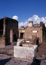 Roman bar, Herculaneum, Italy. Royalty Free Stock Photos