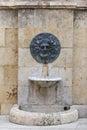 Roman bas relief in tarragona spain Royalty Free Stock Photos