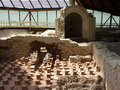 Roman bath excavation of an in germany Stock Photo