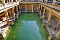 Roman Baths in Bath, England Stock Image