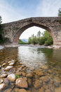 Roman bridge ancient in the north of aragon spain valle de hecho Royalty Free Stock Photo