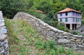 Roman bridge colletta di castelbianco italy Royalty Free Stock Photography