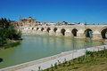 Roman bridge, Cordoba, Spain. Royalty Free Stock Image
