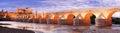 Roman bridge and guadalquivir river great mosque cordoba spai Stock Images