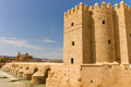 Roman bridge over guadalquivir river cordoba calahorra tower torre de la calahorra fortified gate to protect bridge Stock Image
