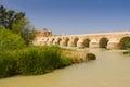 Roman bridge over guadalquivir river cordoba calahorra tower torre de la calahorra fortified gate to protect bridge Stock Image