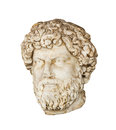 Roman bust of Aelius Verus isolated Stock Photos
