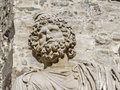 Roman bust beared mérida november theater ruins in mérida capital of extremadura region in spain year b c nowadays in use for Stock Image