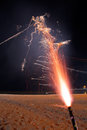 Roman candle fireworks Stock Photography