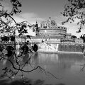 Roman castle rome castel sant angelo on the river tiber italy Royalty Free Stock Images