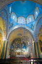 Roman Catholic Cathedral of Fira, Santorini Royalty Free Stock Images