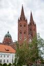 The roman catholic cathedral of st peter and st paul in djakov djakovo croatia june djakovo croatia Stock Photo
