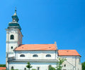 Roman catholic church of holy cross of virgin mary devin founded in xiii c current view since xviii c bratislava slovakia Stock Image