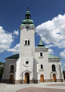 Roman catholic church at town ruzomberok slovakia Stock Photography
