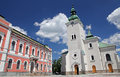 Roman catholic church at town ruzomberok slovakia Royalty Free Stock Photos