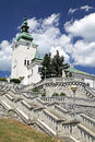 Roman catholic church at town ruzomberok slovakia Stock Images