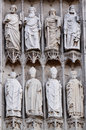 Roman catholic gothic cathedral details rouen france Stock Photography