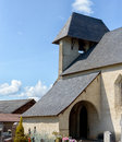Roman church in french Pyrenees Royalty Free Stock Photo