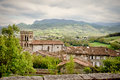 Roman church in the Pyrenees mountains in France Royalty Free Stock Photo
