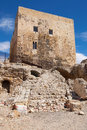 Roman circus and praetorium ruins of the tower of the in tarragona spain Royalty Free Stock Photo