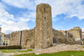 Roman circus tower tarragona spain a view of the Royalty Free Stock Images