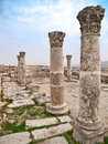 Roman citadel in Amman, Jordan Royalty Free Stock Photos