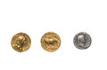 Roman coins Royalty Free Stock Photos