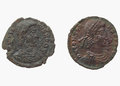 Roman coins dating back to the IV century, Constantius I, empero Royalty Free Stock Photo